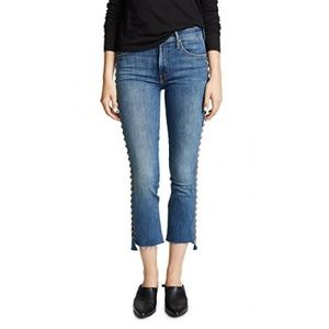 MOTHER Insider Crop Step Fray in Rough Stud jeans